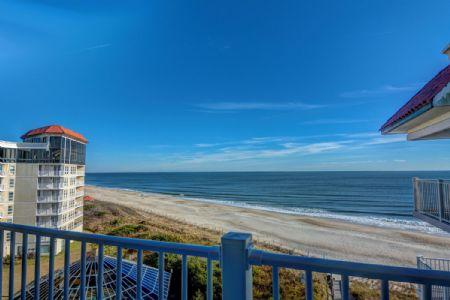 Balcony View - St. Regis 1509 - North Topsail Beach - rentals