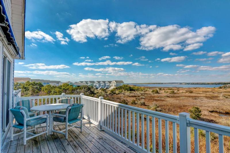 Back deck view - 110 Calinda Cay Court - North Topsail Beach - rentals