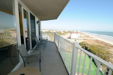 Ocean view from the balcony - 3509 St. Regis - North Topsail Beach - rentals