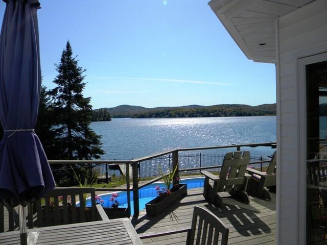 Balcony View - Magnificent Lakefront home Mt. Tremblant Region. - Mont Tremblant - rentals