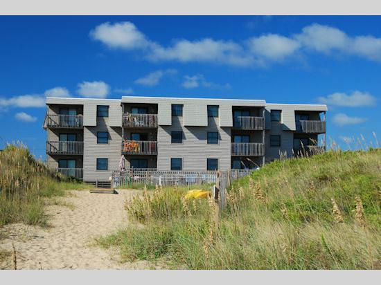 View of Admirals View III From The Beach - Oceanfront 2 Bedroom Condo in Admirals View III - Kill Devil Hills - rentals