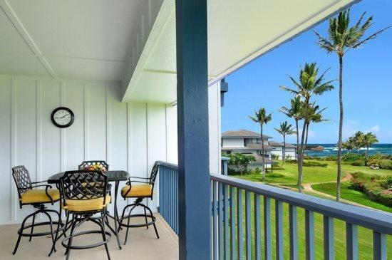 Lanai - Poipu Sands 222 OCEAN VIEW, renovated 2bd/2bath, Pool, tennis courts. Free car with stays 7 nts or more* - Koloa - rentals