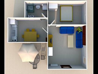 A2(2+2): floor plan - 02313MAKA A2(2+2) - Makarska - Makarska - rentals
