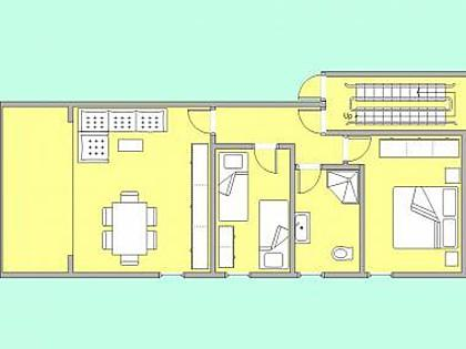 A1(4+1): floor plan - 5526  A1(4+1) - Podstrana - Podstrana - rentals