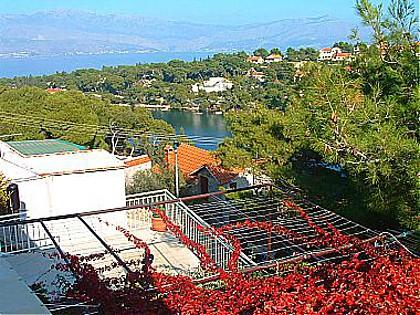 A1(4): terrace view - 01201SPLI  A1(4) - Splitska - Splitska - rentals