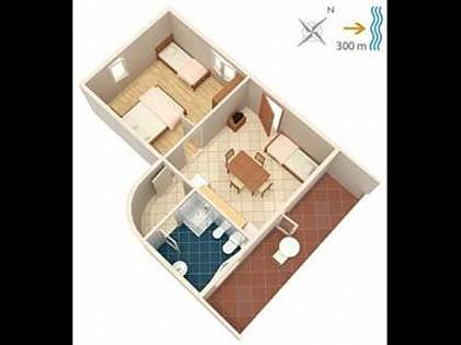 A Veliki(3+1): floor plan - 5808  A Veliki(3+1) - Zman - Zman - rentals