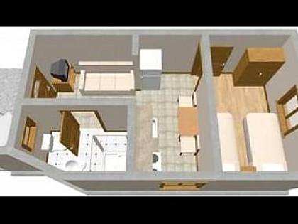 A Mali(2+1): floor plan - 5808  A Mali(2+1) - Zman - Zman - rentals