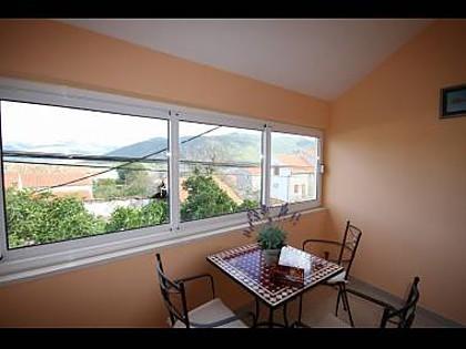 H(4+1): indoor terrace - 6055 H(4+1) - Hodilje - Dubrovnik-Neretva County - rentals