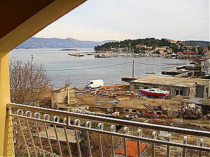 Djani(2+1): balcony view - 00414LUMB Djani(2+1) - Lumbarda - Lumbarda - rentals