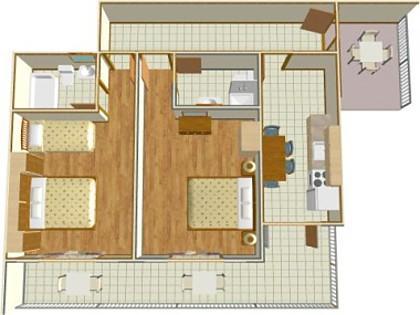 A1(4+1): floor plan - 02513BREL  A1(4+1) - Brela - Brela - rentals
