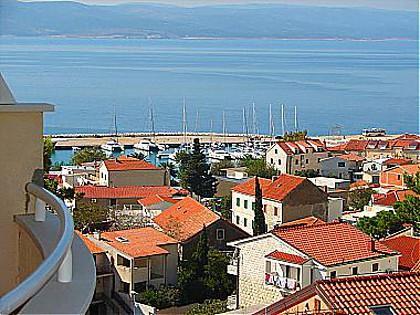 A1(2+2): terrace view - 01813BVOD A1(2+2) - Baska Voda - Baska Voda - rentals