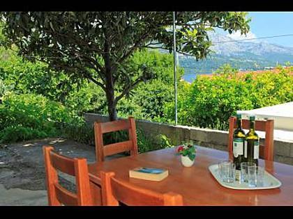 A1Mate(6+2): garden terrace - A02214KORC A1Mate(6+2) - Korcula - Korcula - rentals