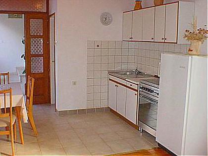 SA1 Plavi (2+1): kitchen and dining room - 00417VIGA SA1 Plavi (2+1) - Viganj - Viganj - rentals