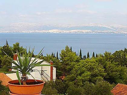 A3(4+1): terrace view - 02101SUPE  A3(4+1) - Supetar - Supetar - rentals