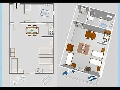 SA3(3): floor plan - 03004VIS  SA3(3) - Vis - Vis - rentals