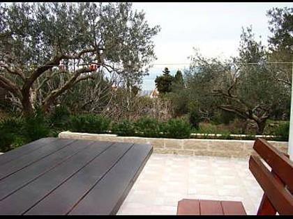 A5(4+1): terrace view - 01301SPLI  A5(4+1) - Splitska - Splitska - rentals