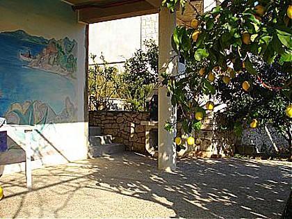 A1(2+1): garden terrace - 00314LUMB  A1(2+1) - Lumbarda - Lumbarda - rentals