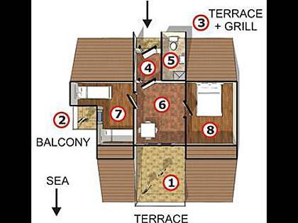 A1(4): floor plan - 2276 A1(4) - Supetarska Draga - Supetarska Draga - rentals