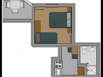 D(2+1): apartment - 2338  D(2+1) - Baska Voda - Baska Voda - rentals