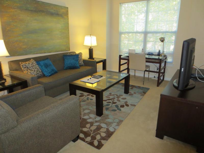 Living room - Lux 2br Apt nr Princeton University - Princeton - rentals