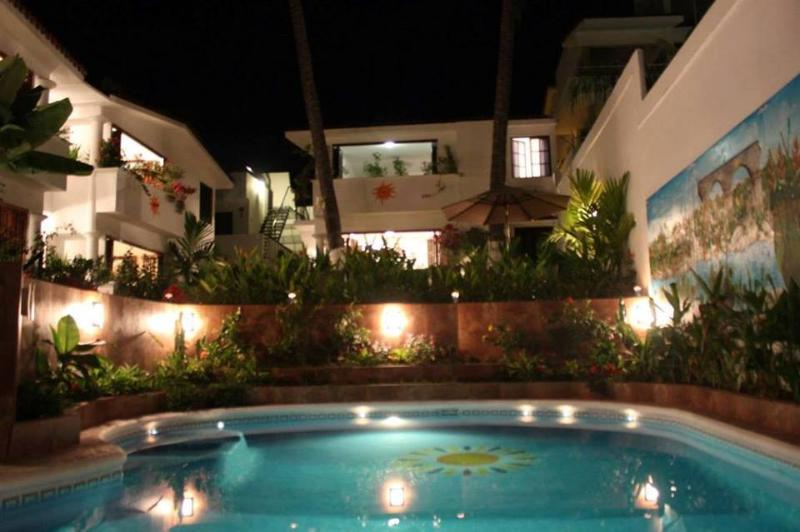 Nighttime around the pool - Private  2 BR 2Ba Poolside Villa - Bucerias - rentals
