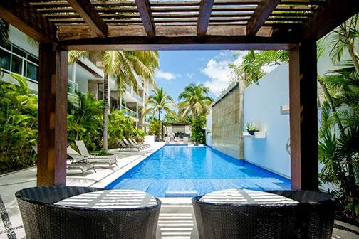 Gorgeous pool area with ample seating - Pure Luxury steps to 5th and close to the beach! - Playa del Carmen - rentals