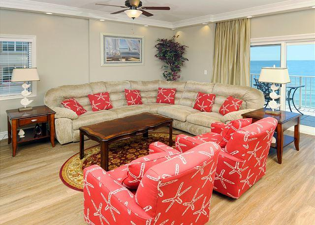 Living Room Area - Westwind Penthouse 901~ Luxurious Penthouse Condo~Bender Vacation Rentals - Gulf Shores - rentals