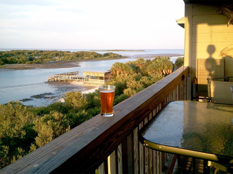Sundown from Tranquility's balcony - Are you ready to relax in Cedar Key, FL? - Original Tranquility: Nov/Dec. Deals with a VIEW! - Cedar Key - rentals