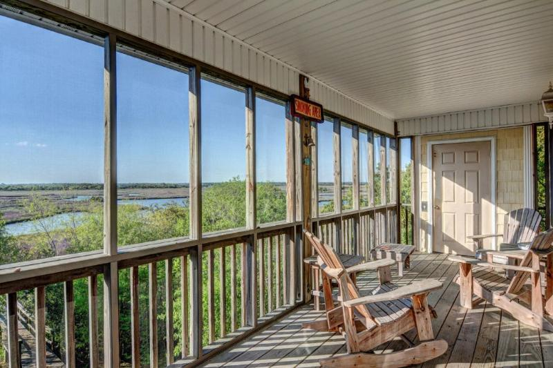 Sound view from rear deck - 921 N New River Drive - Surf City - rentals