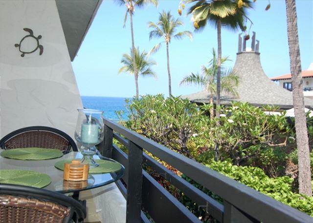 Ocean View Lanai - Casa De Emdeko 212 - New Owners, Redecorated, new bed, AC & Ocean Views! - Kailua-Kona - rentals