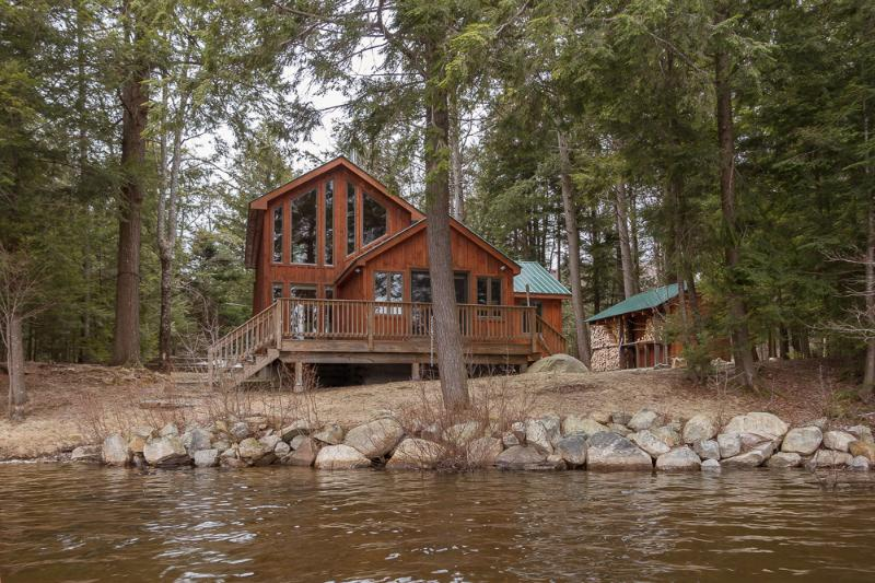 Spring on the Lake  - Private Lakefront Cabin, Sauna, Snowshoes and Views! - Wells - rentals