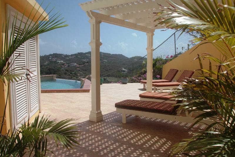 Sun deck with infinity edge pool - South Sea House Apt 3 - Luxurious But Great Value - Cap Estate, Gros Islet - rentals
