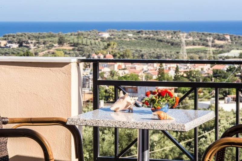 Helidonia Villas, KIMON: bedrooms balcony with sea view - Helidonia Villas, KIMON - Rethymnon - rentals