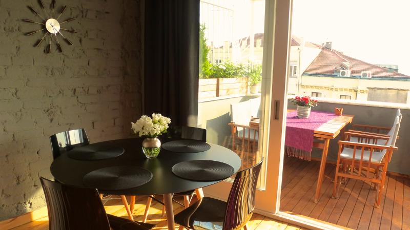 Galata loft with private terrace and views across - Image 1 - Istanbul - rentals