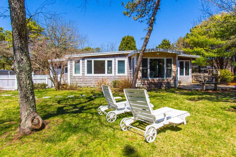 Yard Side of House - MERCM - CENTRAL KATAMA LOCATION, BIKE TO BEACH OR TOWN, LARGE, PRIVATE BACKYARD, Central A/C - Edgartown - rentals
