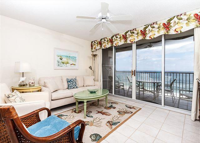 Stunning views from this 7th floor unit - IP709:AMAZING 7th floor BEACH FRONT 3BR/3BA!Free Beach SVC,private parking!! - Fort Walton Beach - rentals
