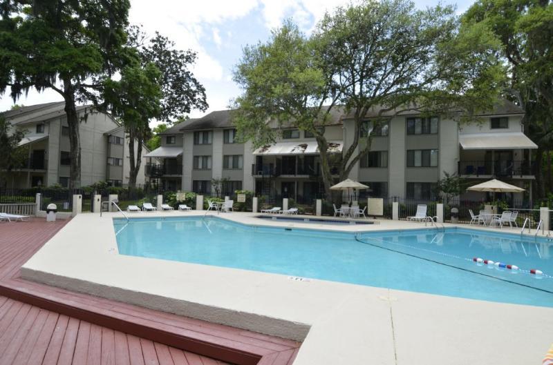 Swimming Pool - Short Walk to Beach, 1st Floor Villa with Lagoon Views & Free Tennis - Hilton Head - rentals