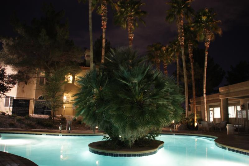 heated pool at night - Beautiful, Boutique style 2BDR/2BA close to Strip - Las Vegas - rentals