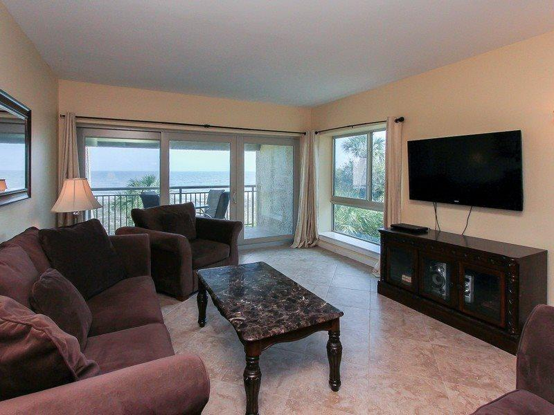 Living Room with Ocean Front Views at 474 Captains Walk - 474 Captains Walk - Hilton Head - rentals