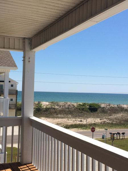 View from the top kitchen deck. May 3, 2015. - A Mermaid's Dream! Oceanview Duplex on N. Topsail - North Topsail Beach - rentals