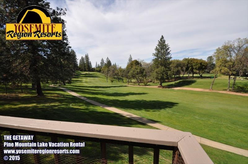 Backyard golf course view, small dog friendly, Unit 5 Lot 197 Pine Mountain Lake Golf Course View Vacation Rental, The Getaway - GolfCourseVw 1/3m>Pool&Club SmlDogOK 25m>Yosemite - Groveland - rentals