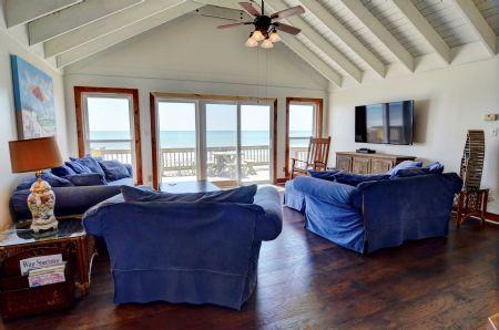 Living Room  - Livin' On A Prayer, 230 Topsail Rd, North Topsail Beach NC, SAVE UP TO $130!! - North Topsail Beach - rentals