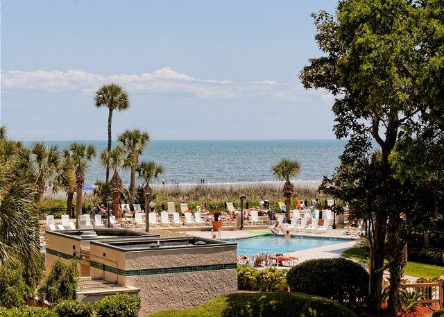 Villamare 1204 - Designer Decorated 2BR/2BA Villa Overlooks Pool and has Ocean View - Hilton Head - rentals