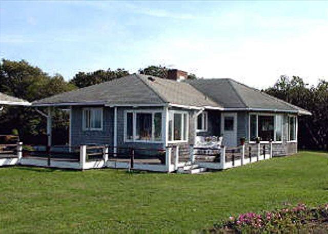 PRIVATE BEACHFRONT HOUSE WITH PANORAMIC VIEWS OF VINEYARD SOUND - Image 1 - West Tisbury - rentals