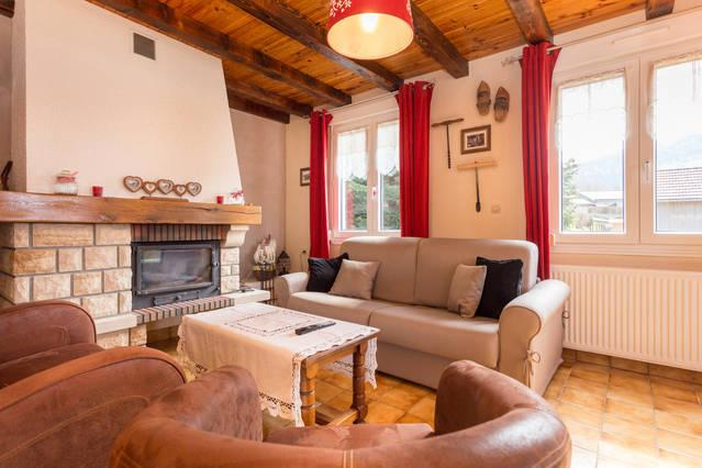Living room with fireplace - Holiday House for 12 personnes La Bresse, Vosges - La Bresse - rentals