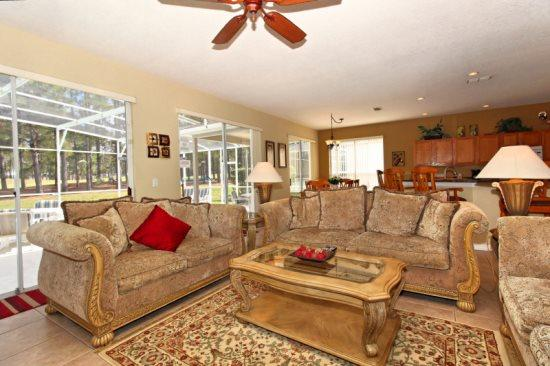 Spectacular 5 Bed 3 Bath Pool Home In Highlands Reserve Golf Community. 458BD. - Image 1 - Orlando - rentals