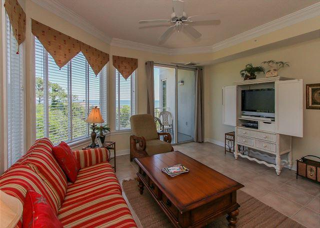 Living Area - 2403 SeaCrest-4th Floor/ Ocean Views - Summer Weeks Available - Hilton Head - rentals