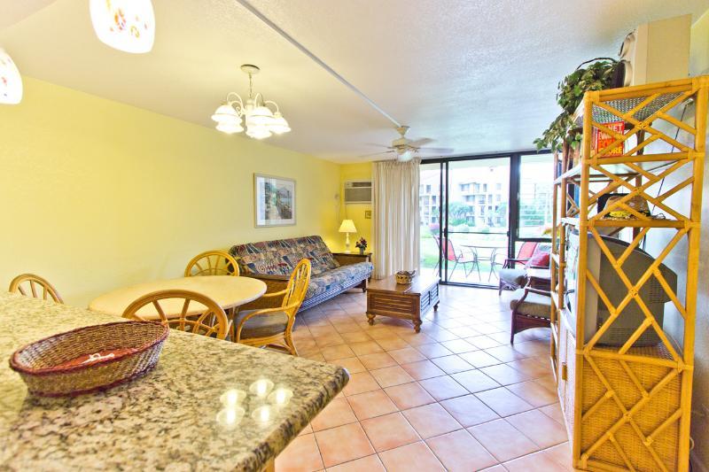 Living Room - 1BR Walk to Best Kihei Beach; Ground Floor Condo - Kihei - rentals