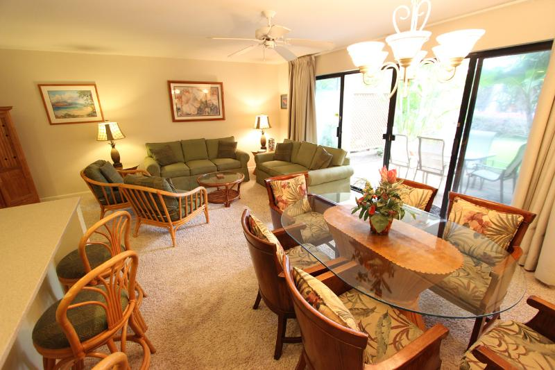 Dining Room- Living Room - Ground Floor; Steps from Large Pool; Walk to Beach - Kihei - rentals