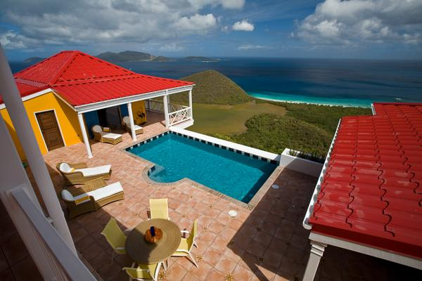 Sunny villa with a wide view of neighboring islands and the sea. MAT SUP - Image 1 - Belmont - rentals